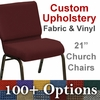HERCULES Series 21''W Customizable Church Chair with Gold Vein Frame [FD-CH-21-GV-UNP-CUSTOM-GG]