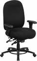HERCULES Series 24/7 Intensive Use Big & Tall 350 lb. Rated Black Fabric Multifunction Swivel Chair with Foot Ring [LQ-1-BK-GG]