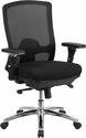 HERCULES Series 24/7 Intensive Use Big & Tall 350 lb. Rated Black Mesh Multifunction Swivel Chair with Synchro-Tilt [LQ-2-BK-GG]