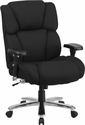 HERCULES Series 24/7 Intensive Use Big & Tall 400 lb. Rated Black Fabric Executive Swivel Chair with Lumbar Knob [GO-2149-GG]