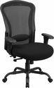 HERCULES Series 24/7 Intensive Use Big & Tall 400 lb. Rated Black Mesh Multifunction Swivel Chair with Synchro-Tilt [LQ-3-BK-GG]