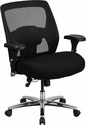 HERCULES Series 24/7 Intensive Use Big & Tall 500 lb. Rated Black Mesh Executive Swivel Chair with Ratchet Back [GO-99-3-GG]