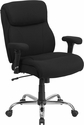 HERCULES Series Big & Tall 400 lb. Rated Black Fabric Swivel Task Chair with Adjustable Arms [GO-2031F-GG]