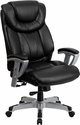 HERCULES Series Big & Tall 400 lb. Rated Black Leather Executive Swivel Chair with Adjustable Arms [GO-1534-BK-LEA-GG]