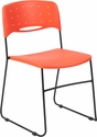 HERCULES Series 771 lb. Capacity Orange Sled Base Stack Chair with Air-Vent Seat [RUT-NC558A-OR-GG]