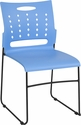 HERCULES Series 881 lb. Capacity Blue Sled Base Stack Chair with Air-Vent Back [RUT-2-BL-GG]