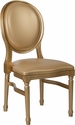 HERCULES Series 900 lb. Capacity King Louis Chair with Gold Vinyl Back and Seat and Gold Frame [LE-G-G-GG]