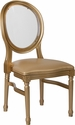 HERCULES Series 900 lb. Capacity King Louis Chair with Transparent Back, Gold Vinyl Seat and Gold Frame [LE-G-G-C-GG]