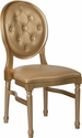 HERCULES Series 900 lb. Capacity King Louis Chair with Tufted Back, Gold Vinyl Seat and Gold Frame [LE-G-G-T-GG]