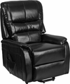 HERCULES Series Black Leather Remote Powered Lift Recliner [CH-US-153062L-BK-LEA-GG]