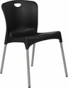 HERCULES Series Black Plastic Stack Chair with Titanium Frame [DAD-YCD-42-CH-GG]