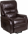 HERCULES Series Brown Leather Remote Powered Lift Recliner [CH-US-153062L-BRN-LEA-GG]