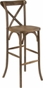 HERCULES Series Dark Antique Wood Cross Back Barstool [XA-X-BAR-GO-GG]