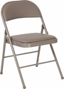 HERCULES Series Double Braced Gray Vinyl Folding Chair [HA-F003D-GY-GG]