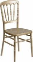 HERCULES Series Gold Resin Stacking Napoleon Chair [LE-L-8-GD-GG]