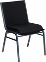 HERCULES Series Heavy Duty Black Dot Fabric Stack Chair [XU-60153-BK-GG]