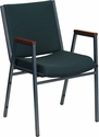 HERCULES Series Heavy Duty Green Patterned Fabric Stack Chair with Arms [XU-60154-GN-GG]