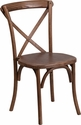 HERCULES Series Stackable Pecan Wood Cross Back Chair [XU-X-PEC-GG]