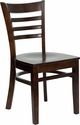 HERCULES Series Ladder Back Walnut Wood Restaurant Chair [XU-DGW0005LAD-WAL-GG]
