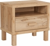 Heritage Collection 1 Drawer Nighstand with Open Storage in Rustic Oak [EV-ST-3959-00-GG]
