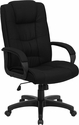 High Back Black Fabric Executive Swivel Chair with Arms [GO-5301B-BK-GG]
