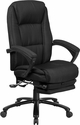 High Back Black Fabric Executive Reclining Swivel Office Chair with Comfort Coil Seat Springs and Padded Armrests [BT-90288H-BK-GG]