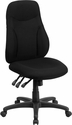 High Back Black Fabric Multifunction Ergonomic Swivel Task Chair [BT-90297H-GG]