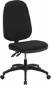 High Back Black Fabric Multifunction Swivel Task Chair [WR79-GG]