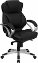 High Back Black Leather Contemporary Executive Swivel Chair [H-9626L-2-GG]