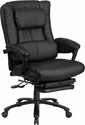 High Back Black Leather Executive Reclining Swivel Chair with Lumbar Support,Comfort Coil Seat Springs and Arms [BT-90527H-GG]