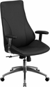 High Back Black Leather Executive Swivel Chair with Arms [BT-90068H-GG]