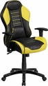 High Back Canary Yellow Executive Gaming-Racing Swivel Chair with Comfort Coil Seat Springs and Black Base [CP-B329A02-YL-GG]