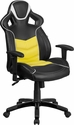 High Back Canary Yellow Executive Gaming-Racing Swivel Chair with Comfort Coil Seat Springs and Black Base [CP-B331A01-YL-GG]