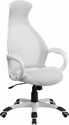 High Back White Mesh Executive Swivel Chair with Arms [CH-CX0528H01-WH-GG]