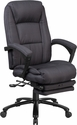 High Back Gray Fabric Executive Reclining Swivel Office Chair with Comfort Coil Seat Springs and Padded Armrests [BT-90288H-GY-GG]