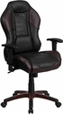 High Back Marrone Eklipsis Brown Executive Gaming-Racing Swivel Chair with Comfort Coil Seat Springs and Brown Base [CP-B329A02-BN-GG]
