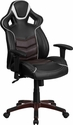 High Back Marrone Eklipsis Brown Executive Gaming-Racing Swivel Chair with Comfort Coil Seat Springs and Brown Base [CP-B331A01-BN-GG]
