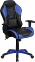 High Back Monterey Blue Executive Gaming-Racing Swivel Chair with Comfort Coil Seat Springs and Blue Base [CP-B329A02-BL-GG]