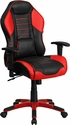 High Back Rossa Corsa Red Executive Gaming-Racing Swivel Chair with Comfort Coil Seat Springs and Red Base [CP-B329A02-RED-GG]