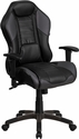 High Back Storm Gray Executive Gaming-Racing Swivel Chair with Comfort Coil Seat Springs and Gray Base [CP-B329A02-GY-GG]