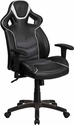 High Back Storm Gray Executive Gaming-Racing Swivel Chair with Comfort Coil Seat Springs and Gray Base [CP-B331A01-GY-GG]