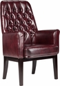 High Back Traditional Tufted Burgundy Leather Side Reception Chair [BT-444-SD-BY-GG]
