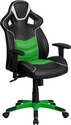 High Back Verde Mantis Green Executive Gaming-Racing Swivel Chair with Comfort Coil Seat Springs and Green Base [CP-B331A01-GN-GG]