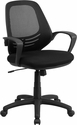 Mid-Back Black Mesh Swivel Task Chair with Arms [GF-50008M-GG]