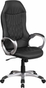 High Back Black Vinyl Executive Swivel Chair with Arms [CH-CX0906H-BK-GG]