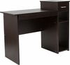 Highland Park Espresso Wood Grain Finish Computer Desk with Shelves and Drawer [NAN-NJ-HD3518-B-GG]
