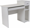 Highland Park White Desk with Shelves and Drawer [NAN-NJ-HD3518-W-GG]