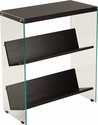 Highwood Collection Espresso Finish Bookshelf with Glass Frame [NAN-JN21708B3-G-GG]