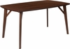 Holden 35.5'' x 59'' Rectangular Walnut Finish Wood Dining Table with Clean Lines and Braced Legs [ES-CB-6440BBH-W-GG]