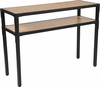 Holmby Collection Knotted Pine Wood Grain Finish Console Table with Black Metal Legs [NAN-JH-1797ST-GG]